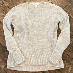 Heathered Gray Wool Blend Sweater